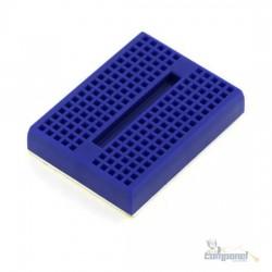 Mini Protoboard 170 Furos Azul Com Adesivo Para Arduino